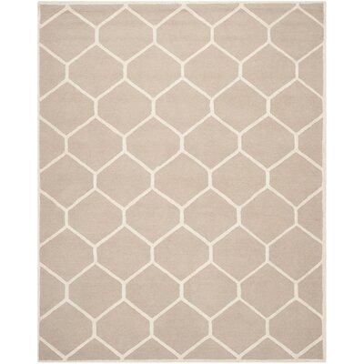 Darla Beige/Ivory Geometric Area Rug Rug Size: 5 x 8