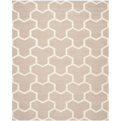 Darla Beige/Ivory Wool Area Rug Rug Size: Rectangle 8 x 10