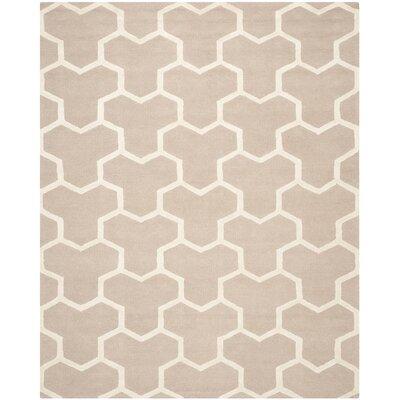 Darla Beige/Ivory Wool Area Rug Rug Size: 8 x 10