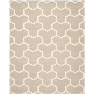 Darla Beige/Ivory Wool Area Rug Rug Size: Rectangle 9 x 12
