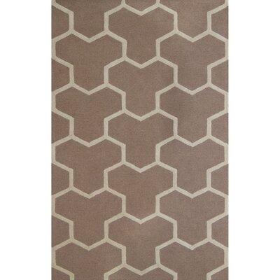 Darla Beige/Ivory Wool Area Rug Rug Size: 5 x 8