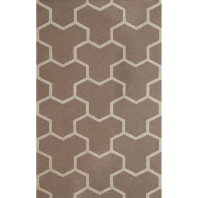 Darla Beige/Ivory Wool Area Rug Rug Size: 8 x 8