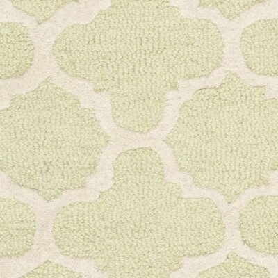 Martins Hand-Tufted Wool Light Green/Ivory Area Rug Rug Size: Runner 26 x 10
