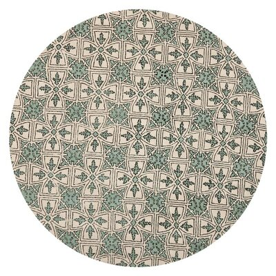 Vanderford Light Blue Rug Rug Size: 7 x 7 Round