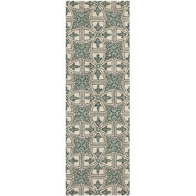 Vanderford Light Blue Rug Rug Size: Runner 23 x 7