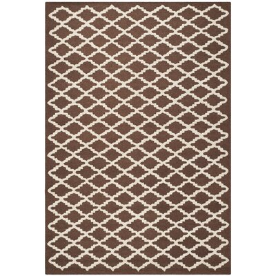 Darla Dark Brown Geometric Area Rug Rug Size: 4 x 6
