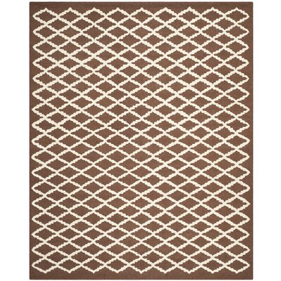 Darla Dark Brown Geometric Area Rug Rug Size: 8 x 10