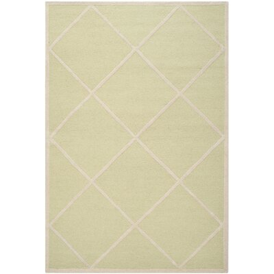Darla Light Green/Ivory Wool Area Rug Rug Size: Rectangle 4 x 6