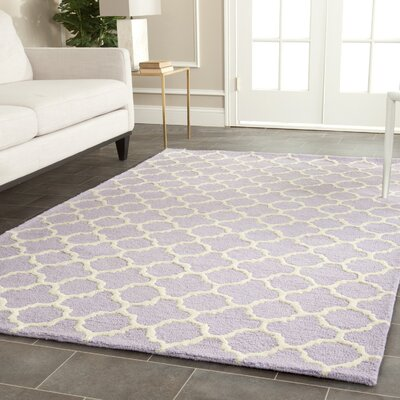 DarlacLavender/Ivory Area Rug Rug Size: 6 x 9