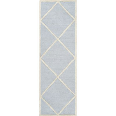 Darla Light Blue/Ivory Area Rug Rug Size: Runner 26 x 8