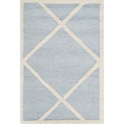 Darla Light Blue/Ivory Area Rug Rug Size: Rectangle 5 x 8