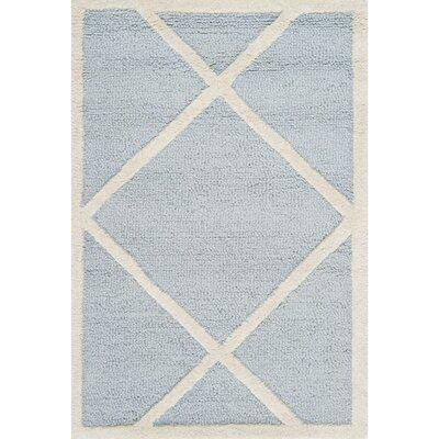 Darla Light Blue/Ivory Area Rug Rug Size: 6 x 9