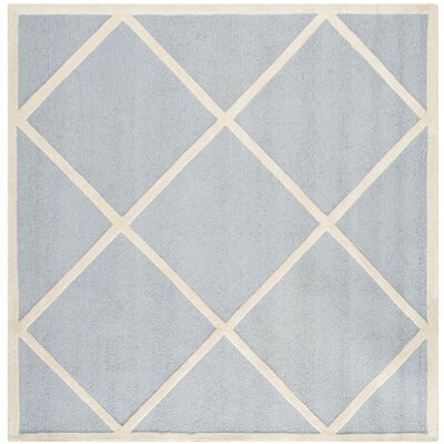 Darla Light Blue/Ivory Area Rug Rug Size: Square 6