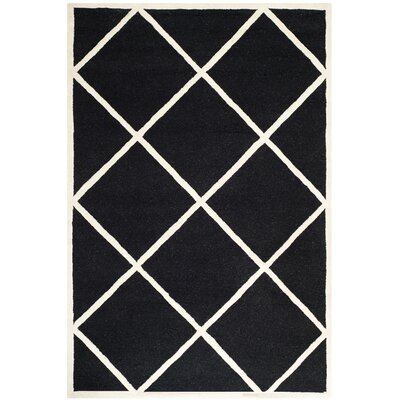 Darla Hand-Tufted Wool Black/White Area Rug Rug Size: Rectangle 8 x 10