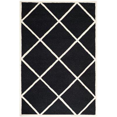 Darla Black Area Rug Rug Size: 8 x 10