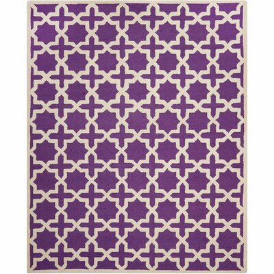 Darla Purple/Ivory Area Rug Rug Size: Rectangle 4 x 6