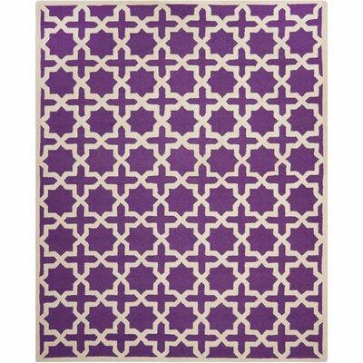 Darla Purple/Ivory Area Rug Rug Size: 2' x 3'