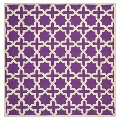 Darla Purple/Ivory Area Rug Rug Size: Rectangle 6 x 6