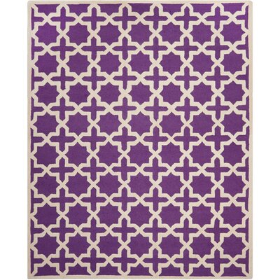 Ruben Purple/Ivory Area Rug Rug Size: 9 x 12
