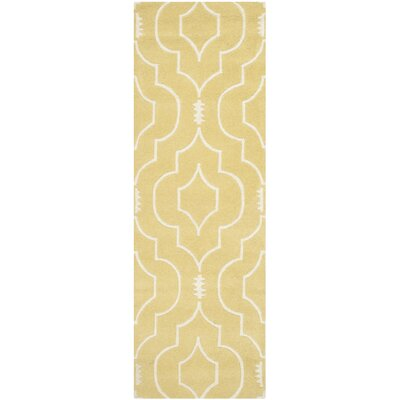 Greaves Light Gold / Ivory Rug Rug Size: Runner 23 x 7