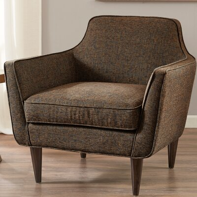 Strouse Mid Century Armchair Upholstery: Pecan