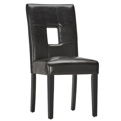 Belvin Keyhole Side Chair Finish: Black / Espresso