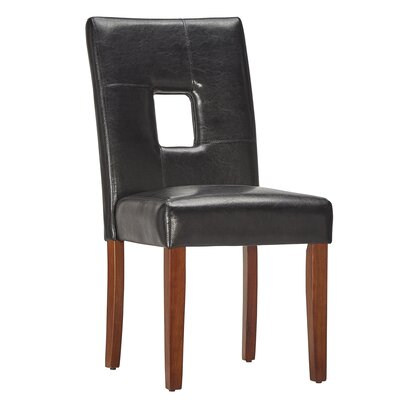 Belvin Keyhole Side Chair Finish: Black / Cherry