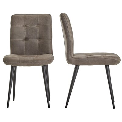 Hosea Microfiber Side Chair Color: Light Brown