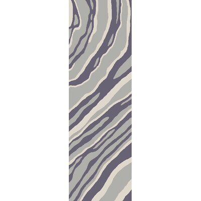 Mireia Gray/Light Gray Indoor/Outdoor Area Rug Rug Size: Runner 26 x 8