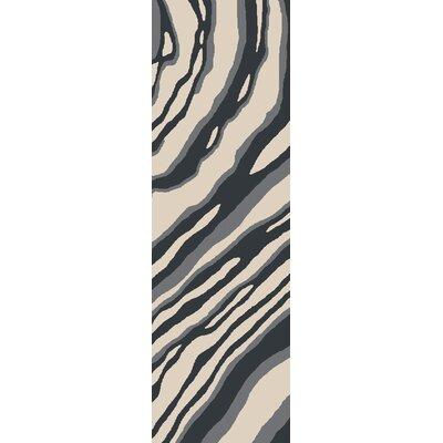 Mireia Beige/Navy Indoor/Outdoor Area Rug Rug Size: Runner 26 x 8