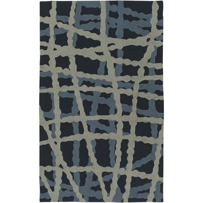 Mireia Navy/Light Gray Indoor/Outdoor Area Rug Rug Size: 2 x 3