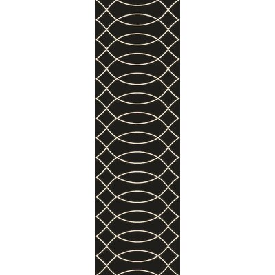 Summers Black Indoor/Outdoor Area Rug Rug Size: Runner 26 x 8
