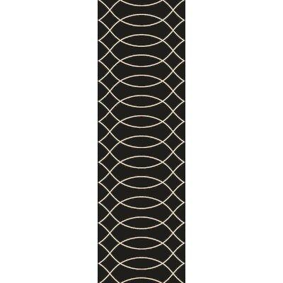 Summers Black Indoor/Outdoor Area Rug Rug Size: Runner 26 x 8
