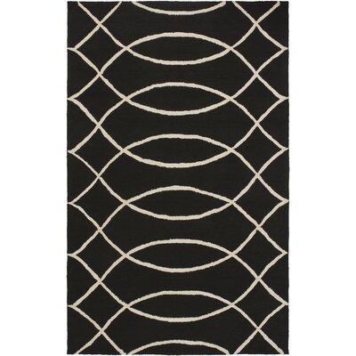Summers Black Indoor/Outdoor Area Rug Rug Size: 5 x 76