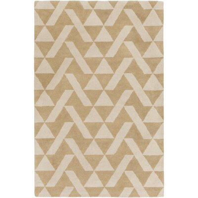 Hooper Hand-Tufted Taupe/Khaki Area Rug Rug size: Rectangle 5 x 76