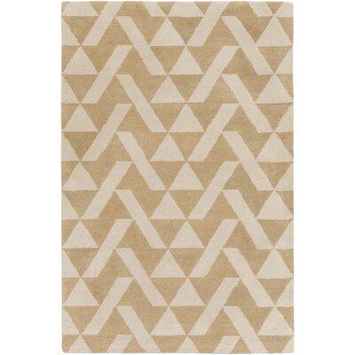Hooper Hand-Tufted Taupe/Khaki Area Rug Rug size: 5 x 76