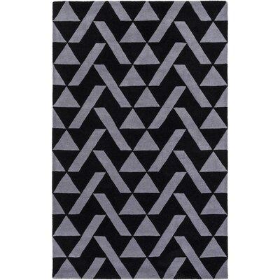 Hooper Hand-Tufted Black/Charcoal Area Rug Rug size: 5 x 76
