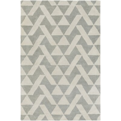 Hooper Hand-Tufted Gray Area Rug Rug size: Rectangle 4 x 6