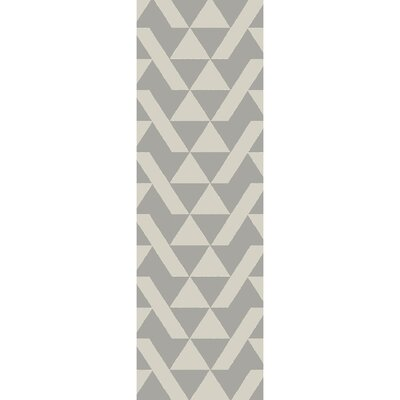 Hooper Hand-Tufted Gray Area Rug Rug size: Runner 26 x 8