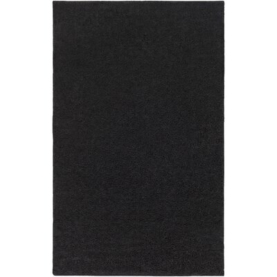 Bennette Black Area Rug Rug size: Rectangle 9 x 12