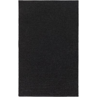 Bennette Black Area Rug Rug size: Rectangle 9 x 12