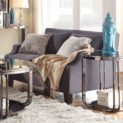 Brissette Loveseat Upholstery: Dark Grey