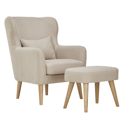 Branscome Armchair and Ottoman Color: Beige