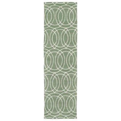 Brann Mint Area Rug Rug Size: Runner 23 x 8