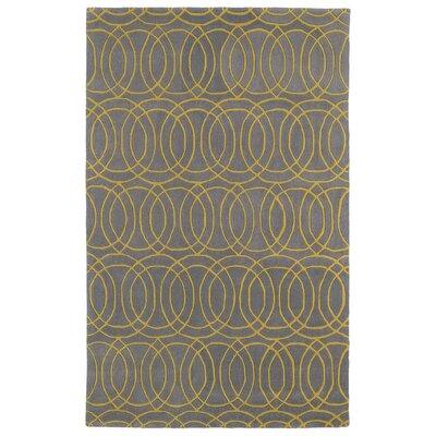 Brann Hand-Tufted Yellow/Gray Area Rug Rug Size: 5 x 79