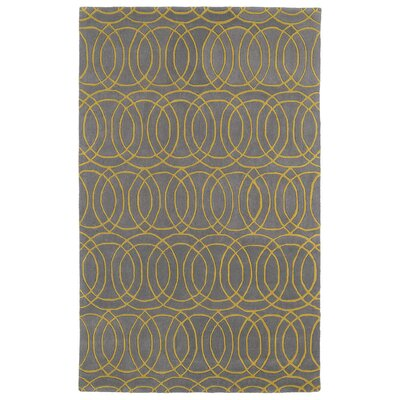 Molly Hand-Tufted Yellow/Gray Area Rug Rug Size: 2 x 3