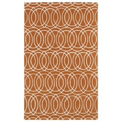 Brann Orange/White Area Rug Rug Size: 2 x 3
