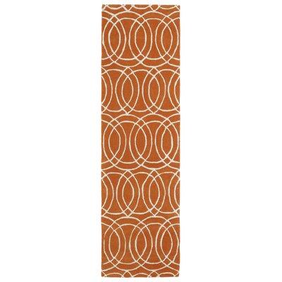 Molly Orange/White Area Rug Rug Size: Runner 23 x 8