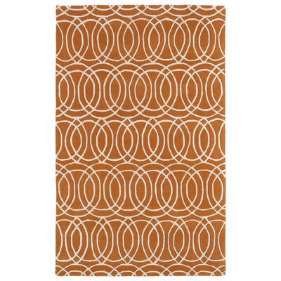 Molly Orange/White Area Rug Rug Size: 3 x 5