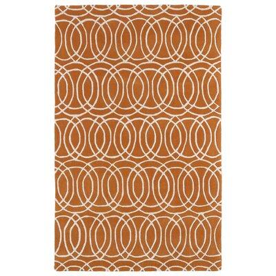 Brann Orange/White Area Rug Rug Size: 96 x 13
